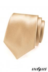 Beżowy krawat męski
