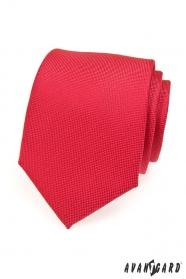 Czerwony krawat męski o delikatnej fakturze