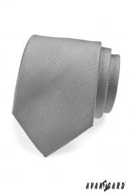 Szary krawat wizytowy