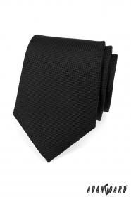 Czarny, matowy krawat męski