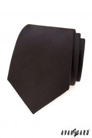 Brązowy krawat w kropkowaną strukturę