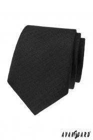 Czarny krawat Avantgard ze wzorem