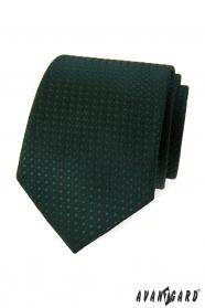 Ciemnozielony krawat z błyszczącym wzorem