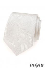 Krawat w kremowym odcieniu
