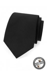 Krawat męski w kolorze czarnym bawełnianym