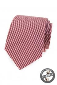 Bawełniany krawat z paskiem w kolorze bordowym