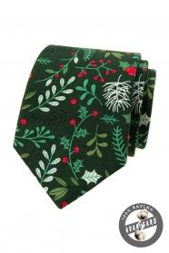 Zielony krawat świąteczny