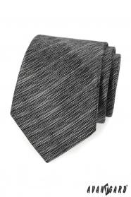 Czarno-szary pręgowany krawat