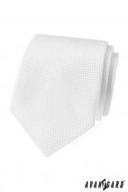Biały krawat strukturalny Avantgard Lux