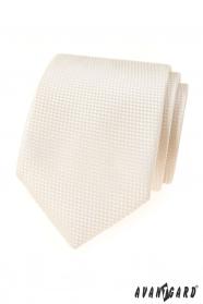 Kremowy krawat strukturalny Avantgard Lux
