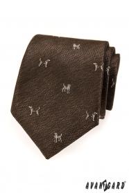 Brązowy krawat, motyw psa