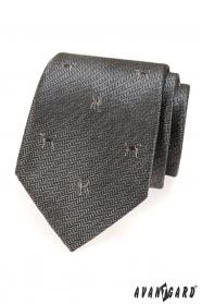 Szary krawat, motyw psa