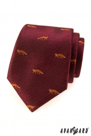 Bordowy krawat - lis