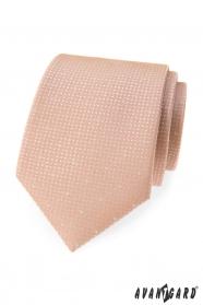 Krawat w kolorze pudru w kropki