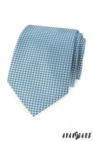 Turkusowy krawat z niebieskim wzorem