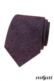 Krawat męski w bordowy wzór