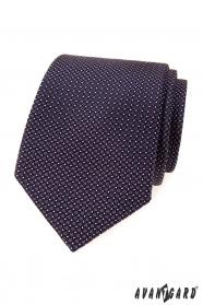 Krawat męski z fioletowymi kwadratami