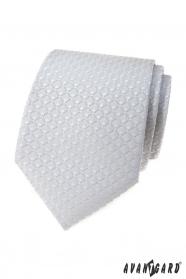 Jasnoszary krawat w trójwymiarowy wzór