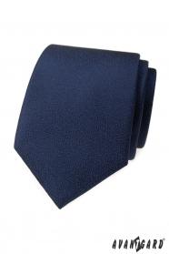 Granatowy krawat o teksturowanej powierzchni