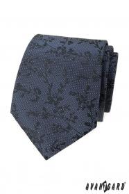 Niebieski krawat z teksturą we wzór