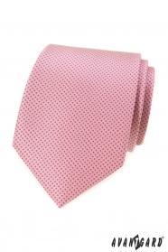 Różowy krawat w małe kropeczki