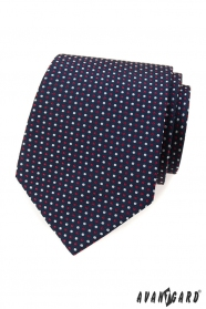 Niebieski krawat w kolorowe kropki