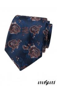 Niebieski krawat, czerwone róże