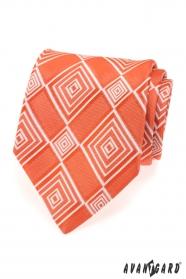 Krawat męski pomarańczowy 70320