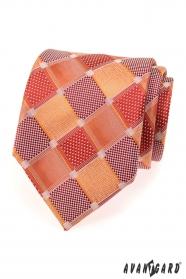 Męskie krawaty duże czerwone kostki