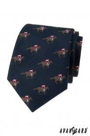 Niebieski krawat, wzór koni wyścigowych