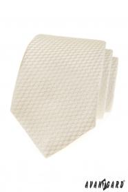 Kremowy krawat z powierzchnią paski