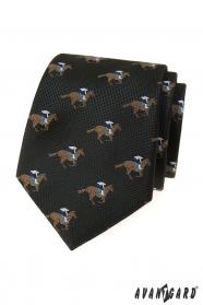 Czarny krawat Koń wyścigowy