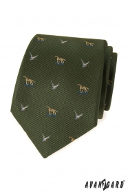 Zielony krawat myśliwski