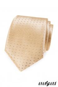 Złoty krawat w kropki