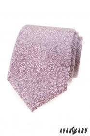 Różowy krawat z drobnym wzorem