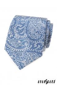 Jasnoniebieski krawat z motywem paisley