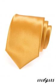 Krawat męski LUX - złoty