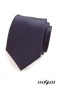 Krawat w granatowym matowym kolorze