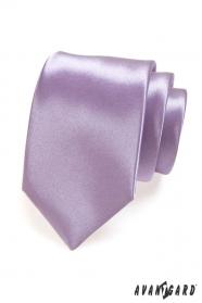 Gładki liliowy krawat