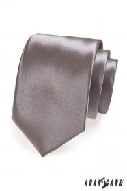 Grafitowy krawat dla mężczyzn