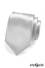 Srebrny krawat męski