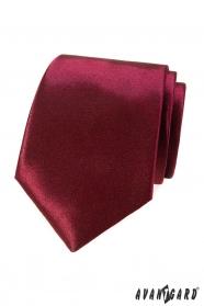 Krawat męski w kolorze bordowym