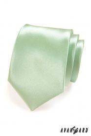 Krawat męski jasno zielony połysk