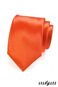Pomarańczowy monochromatyczny krawat