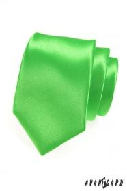 Zielony błyszczący krawat