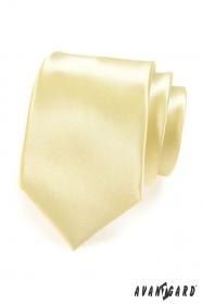 Żółty gładki krawat