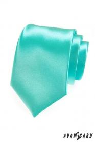Krawat męski w połysku miętowym