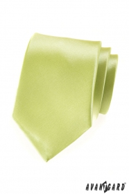 Krawat męski w kolorze limonki z połyskiem