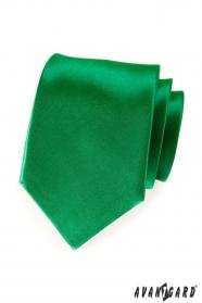 Szmaragdowy krawat ciemnozielony