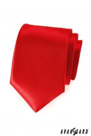 Gładki czerwony krawat dla mężczyzn